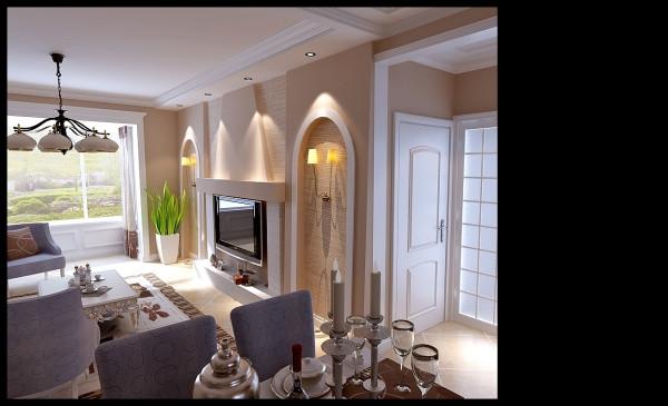 现代风格-客厅设计效果