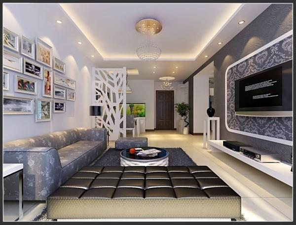 现代简约风格-客厅设计效果