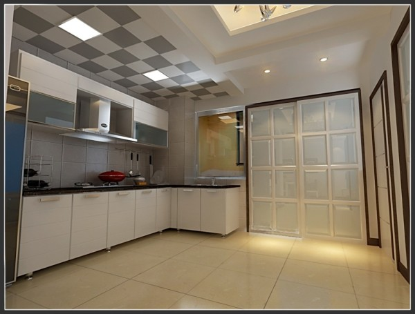 现代简约设计风格-敞开式厨房设计效果
