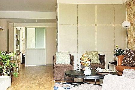 客厅整体设计效果 从阳台的方向看整个客厅