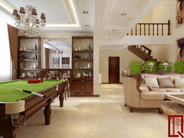 欧式风格设计-地下一层客厅