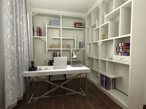 主卧书房就是很现代化的办公环境,把主卧和书房和为一间,又考虑到客卫在主卧的旁边,会影响到休息,那么最后的决定就是把书房以及客卫都归为主卧。