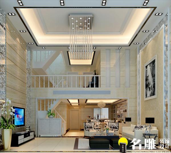 简洁的电视背景,加上柔雅明净的色彩给人一种高雅的感受,大面积的白橡木让人坐在客厅就可以把整个空间的柔美、清爽、大方尽收眼底。
