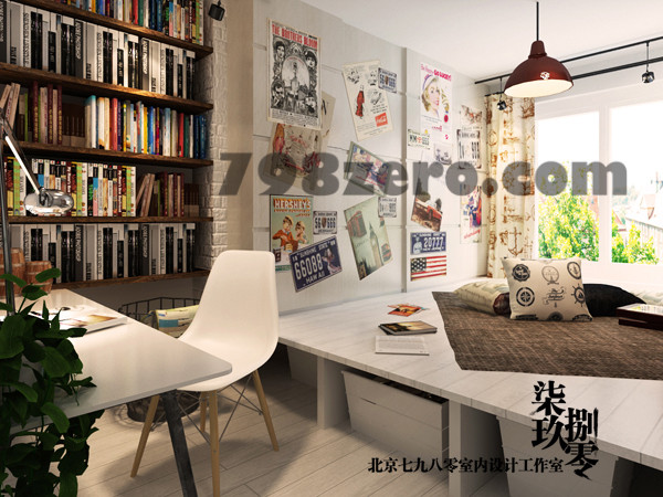 七九八零  7980   书房设计  北京七九八零室内设计 高端会所设计  别墅豪宅设计  loft设计
