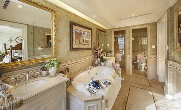 君山高尔夫别墅400平米美式风格  卫生间设计
