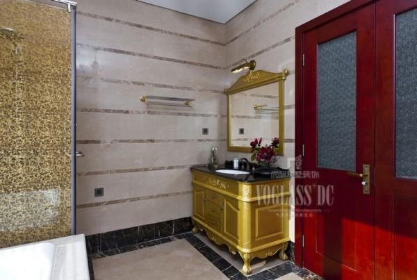 中海尚湖世家 350平米 新中式  洗手台设计