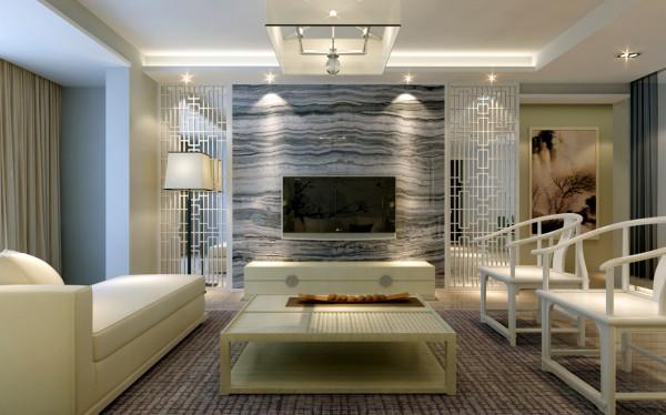 新中式风格-电视背景墙效果