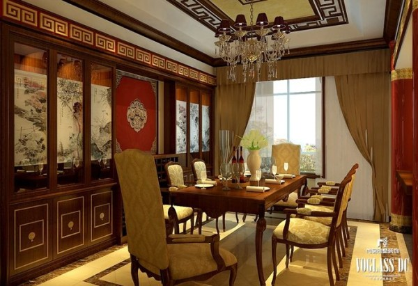 五矿万科如园290平米新中式 餐厅