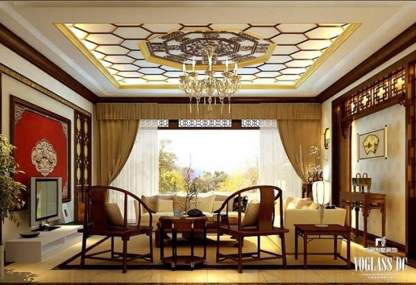五矿万科如园290平米新中式 客厅