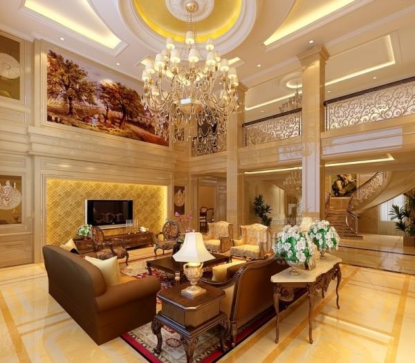 客厅的设计稳重,奢华大气,彰显了业主的生活品味