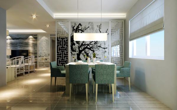 新中式风格-餐厅效果