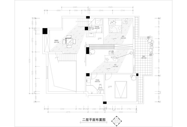 天鹅堡二层户型图