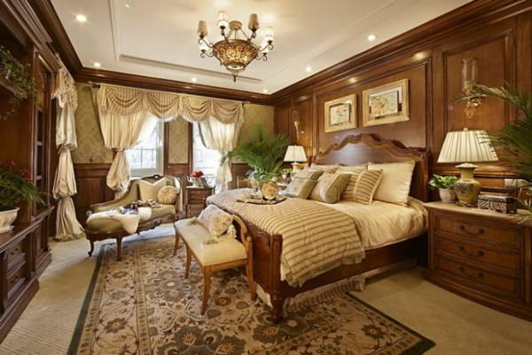 君山高尔夫别墅400平米美式风格  卧室设计