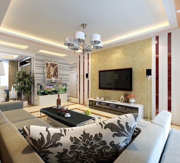 现代风格--电视背景墙设计效果