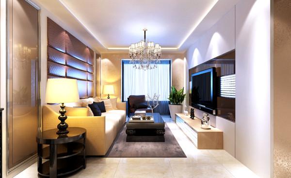 后现代风格设计-客厅整体效果