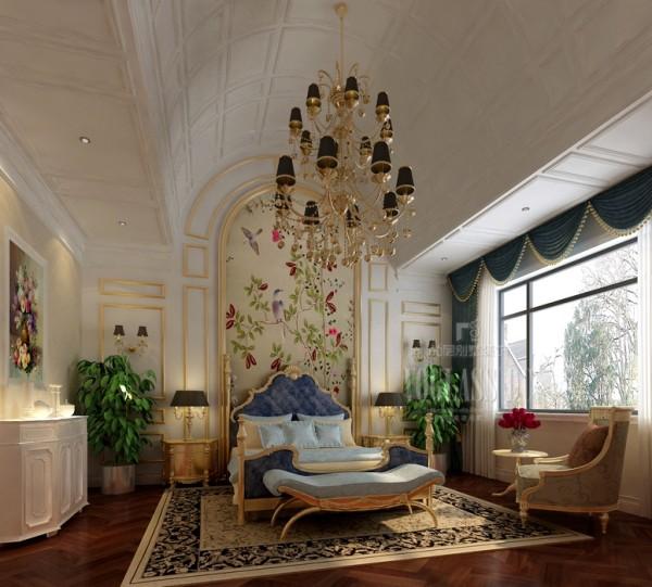 新古典风格的主卧装修设计,融合了诸多中式元素