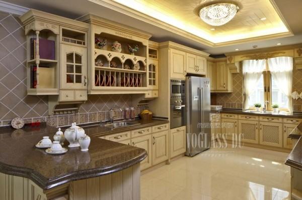 金隅长安山麓 500平米 混搭风格 厨房设计