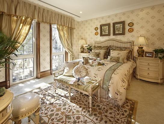 君山高尔夫别墅400平米美式风格  卧房设计