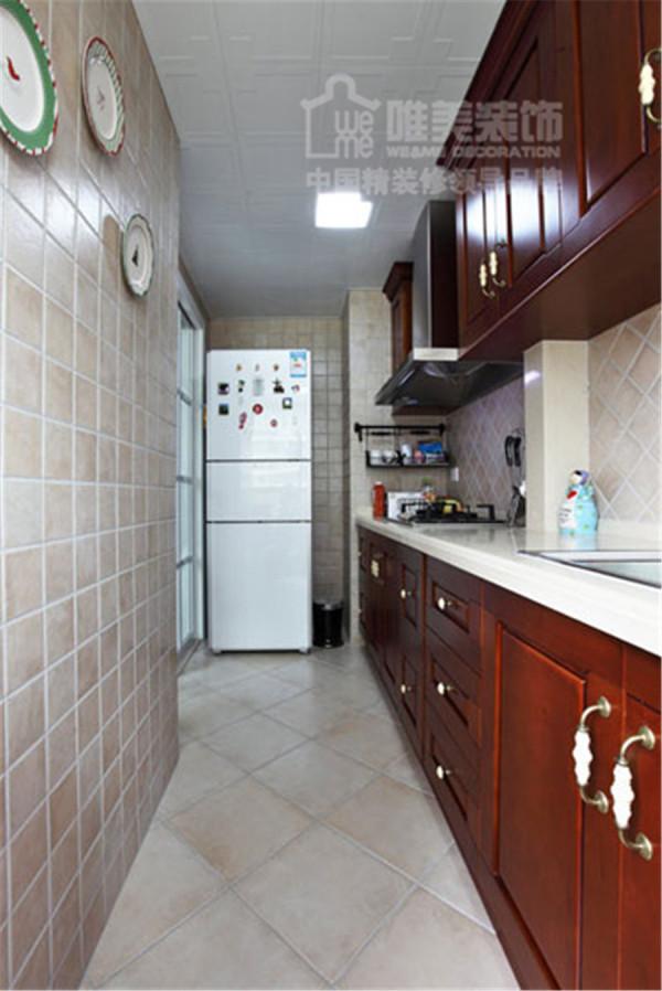 厨房墙面贴砖简约不简单,美观把握恰到好处