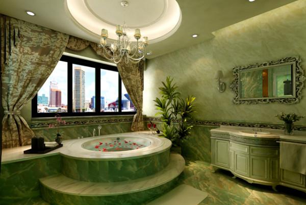 把原有入户改为浴室空间 豪华浴缸,专门的洗浴空间,享受人生!
