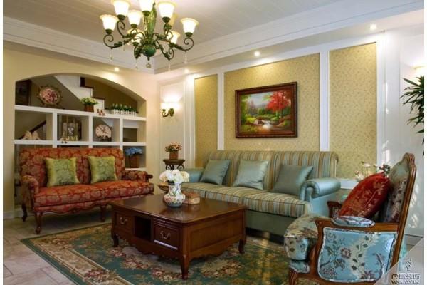 金色漫香林 300平米 欧美风情  客厅设计