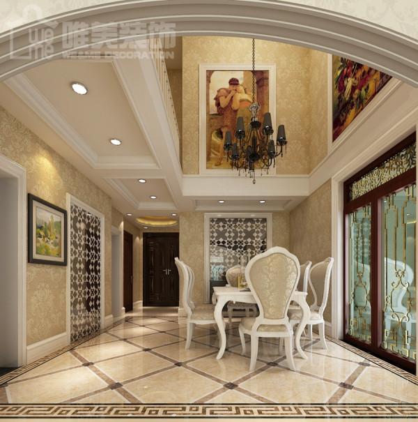 餐厅地面是菱形地砖,时尚感与欧式感的结合