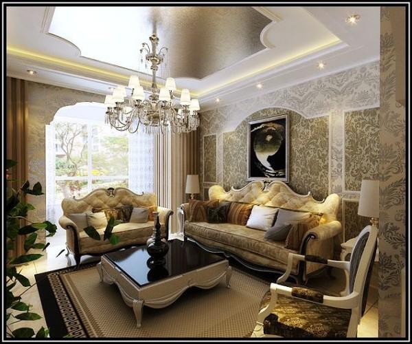 欧式风格-沙发背景墙设计