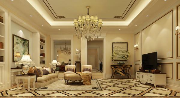 客厅的设计风格与主卧的风格完全的保持一致,简约而不简单,电视背景墙的色调很素,但是给人的感觉很有质感!