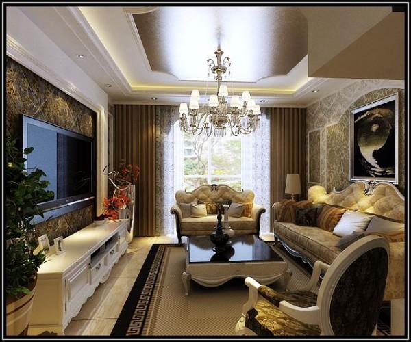 欧式风格-客厅整体设计