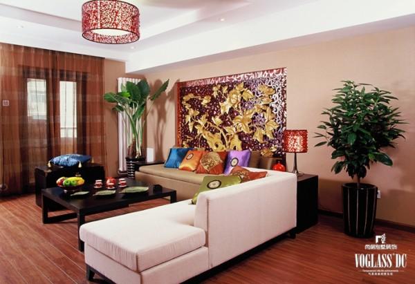 锦湖园  170平米 新中式风格 客厅设计