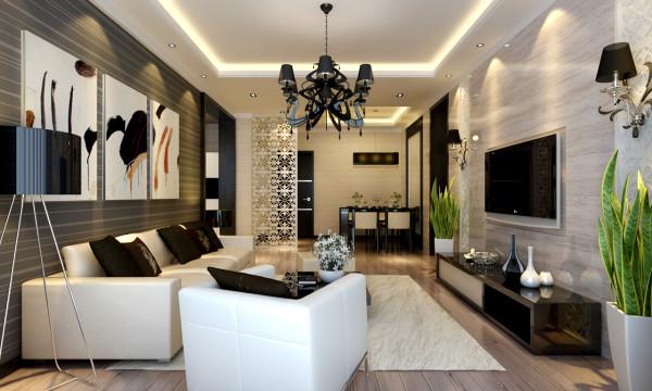 现代风格-客厅整体设计