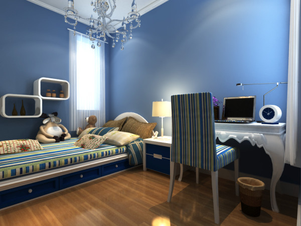 卧室:空间利用很好,还有写字台