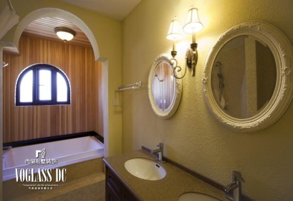 天恒别墅山 310平米 美式乡村风格 卫生间设计