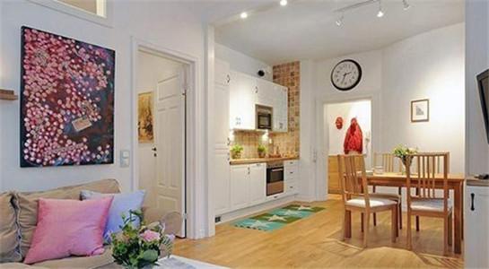 开放式的厨房与客厅的链接