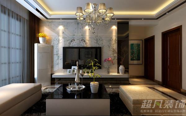 郑州阳光城119平米三室两厅现代风格---电视背景效果图