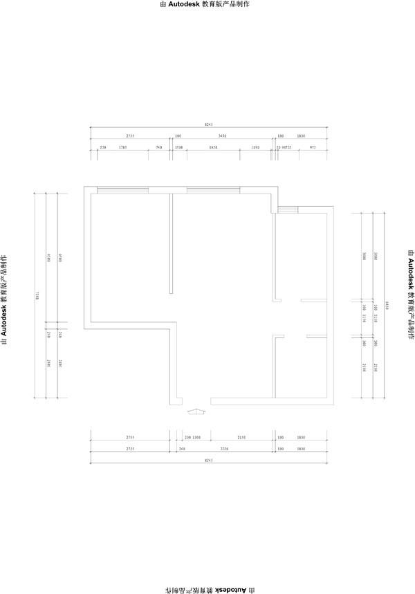 会展誉景69平米正规一居,新古典风格装修设计案例——户型图