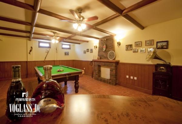 天恒别墅山 310平米 美式乡村风格 休闲区设计