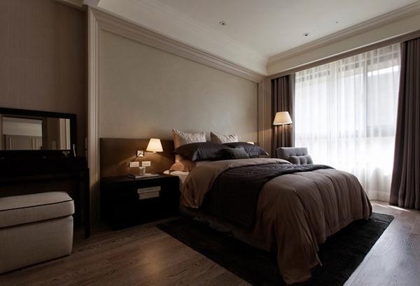 会展誉景69平米正规一居,新古典风格装修设计案例——卧室