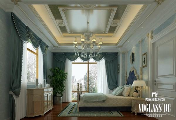保利垄上 450平米 卧室设计 效果贵族风格,高贵典雅。