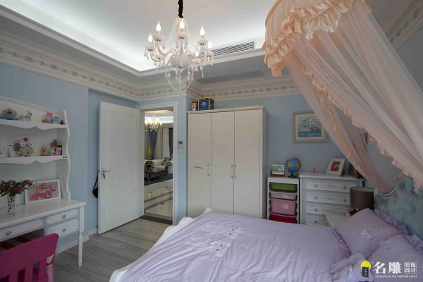 名雕装饰设计——儿童房:以一帘纱幔,营造一种梦幻童话的感觉