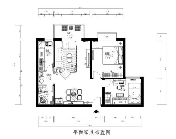 北京朝阳区装修公司-博世祥园小区-83平米现代简约风格效果图