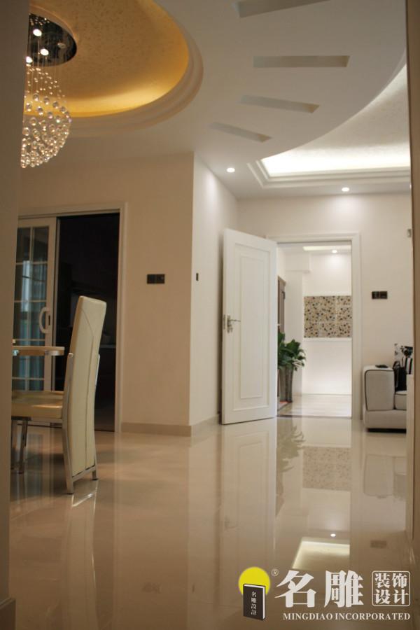 名雕装饰设计———客厅:开放式客厅、餐厅完美搭配,小空间多功能利用。