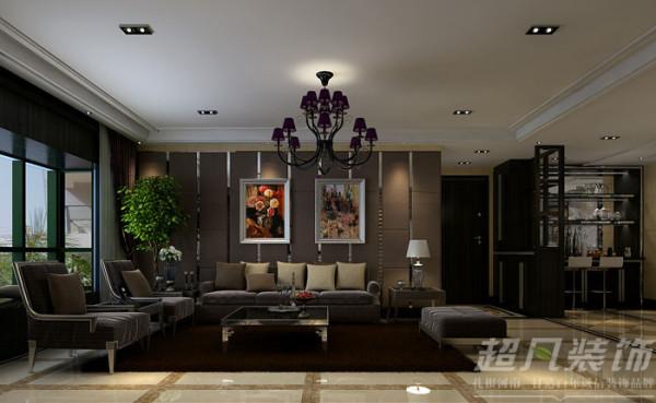 新蓝钻装修效果图/客厅沙发背景墙装修效果图/后现代风格效果图