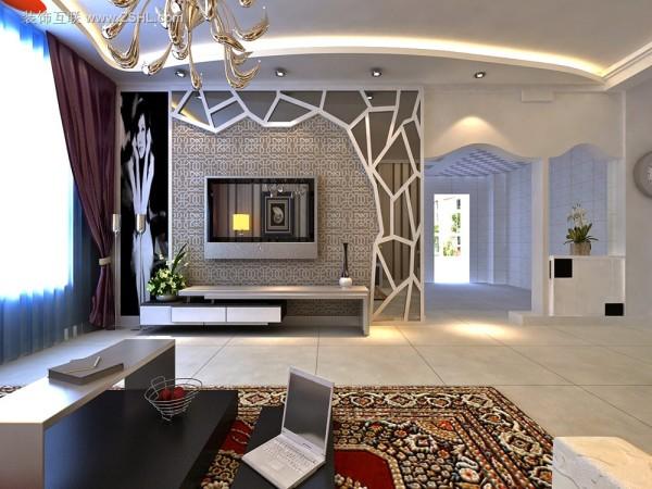 现代混搭-电视背景墙设计