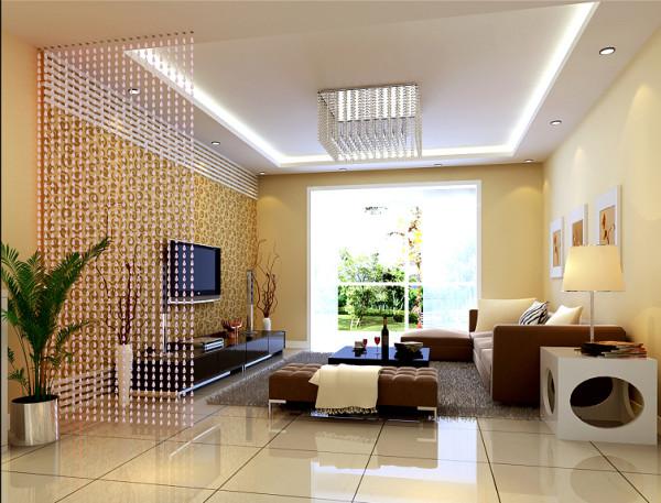 客厅简约的电视背景墙再配上流行的灰色家具,使整个空间充满了一种现代简约的氛围。