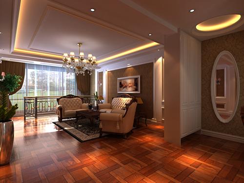 简约欧式-客厅沙发背景设计