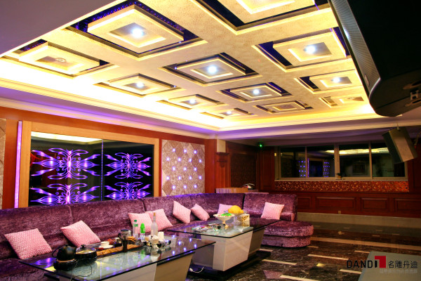 名雕丹迪——视听室:功能齐全,设备完善,整个空间以极致演译奢华。
