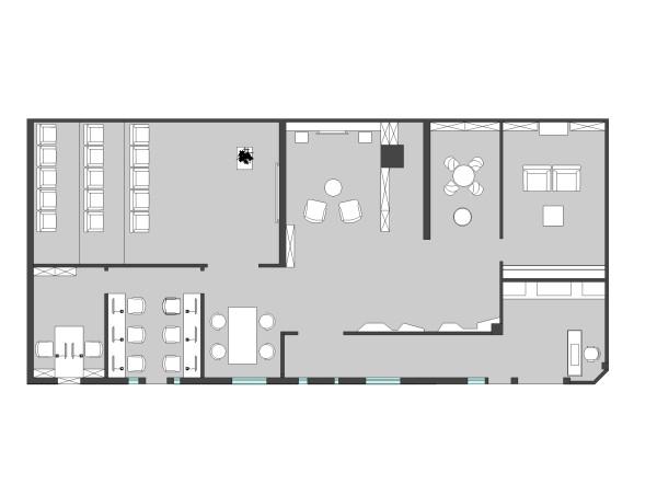成都私享设计高端影音体验店铺——KEF极致影音体验店平面图
