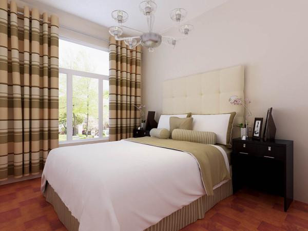 卧室没有多余的装饰,以简单舒适、干净整齐为主,地面采用木地板,比较舒适。