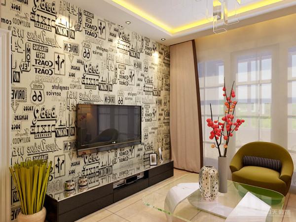 电视背景墙,时尚的装饰,让80后的家更有自己的个性。